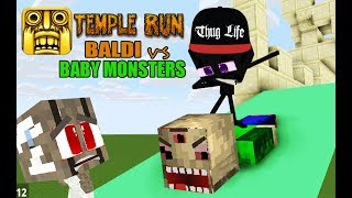 Download MONSTER SCHOOL : BALDI TEMPLE RUN CHALLENGE WITH BABIES - BEST MINECRAFT ANIMATION Video