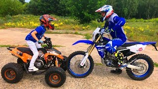Download КВАДРИК или МОТОЦИКЛ!!!Test Drive The Cross Bike.Quad bike or MOTORCYCLE? Video