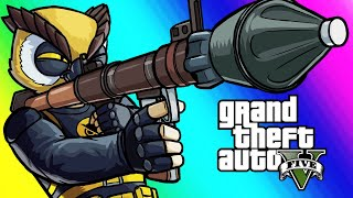 Download GTA5 Online Funny Moments - RPG VS Flying Cars! Video