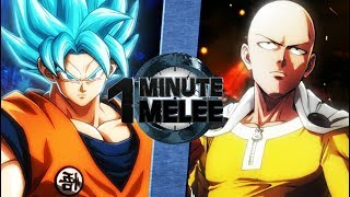 Download Goku vs Saitama (Dragonball Super vs One Punch Man) - One Minute Melee S5 Finale Video