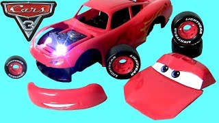 Download Cars 3 Lightning McQueen Junior Kit Assembly Car Toys Lights Sounds DisneyPixarCars3 Toys BTC HD Video