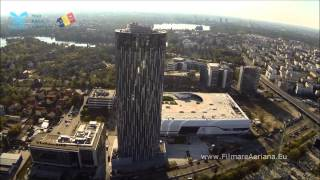 Download The beauty of Bucharest from the air - aerial view of bucharest Video