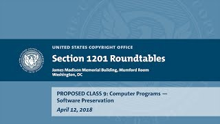 Download Seventh Triennial Section 1201 Rulemaking Hearings: Washington, DC (April 12, 2018) - Prop. Class 9 Video