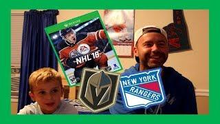 Download NHL18 GAMEPLAY - DAD VS RYAN - RANGERS VS GOLDEN KNIGHTS - QUINNBOYSTV Video