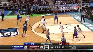 Download MTSU center Brandon Walters impresses in first round NCAA tournament win Video