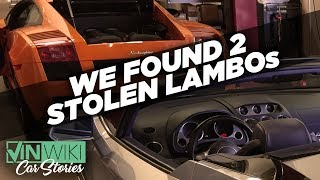 Download VINwiki found two stolen Lamborghinis! Video