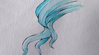 Download EASY TUTORIAL: Coloring manga hair with watercolor! [deutsch/german] |Chizakura Art Video
