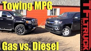 Download 2017 Chevy Colorado V6 vs GMC Canyon Diesel Drag Race, Towing, MPG & 0-60 MPH Review Video