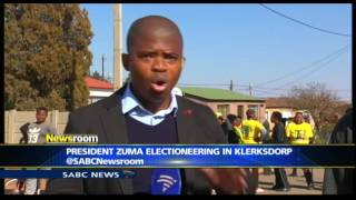 Download President Zuma on a campaign trail in Klerksdorp Video