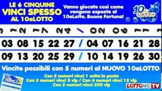 Download LE 6 CINQUINE ″VINCI SPESSO″ AL 10eLOTTO Video