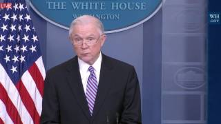 Download Jeff Sessions Immigration Law Risk ″WE ARE NOT SAFE″ with Sean Spicer Press Briefing ICE Video