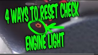 Download HOW TO RESET CHECK ENGINE LIGHT CODES, 4 FREE EASY WAYS !!! Video