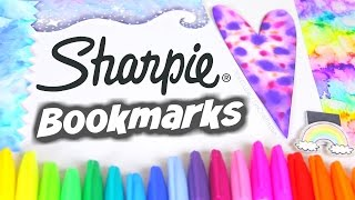 Download DIY SHARPIE WATERCOLOR BOOKMARKS - Paint & Water Marble with Alcohol // SoCraftastic Video