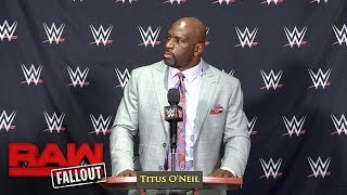 Download Titus O'Neil has some technical difficulties: Raw Fallout, Oct. 10, 2016 Video