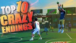 Download TOP 10 CRAZIEST ENDINGS - NBA 2K17 Game Winning Trick Shots Video