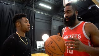 Download I MET JAMES HARDEN IRL!! JAMES HARDEN TAUGHT ME HOW TO DO HIS SIGNATURE EURO STEP LAYUP! Video