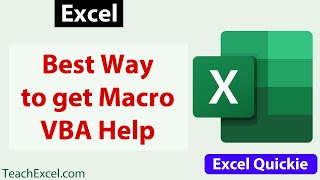 Download #Excel Quickie 23 - Best Way to Get Excel VBA Help Online Video