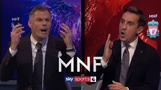 Download Jamie Carragher and Gary Neville have HEATED debate over Unai Emery's Arsenal   MNF Video