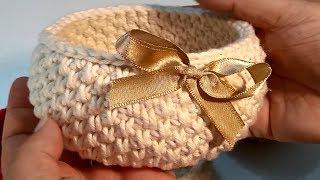 Download Cesta de crochê - Crochetando com Claudia Stolf Video
