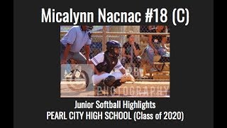 Download Micalynn Nacnac Junior Softball Highlights #18 (Catcher) || Pearl City High School (Class of 2020) Video