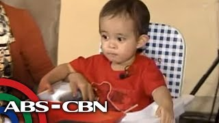 Download Rated K: 2-year-old can read 'abolish pork barrel' Video