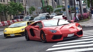 Download 東京 スーパーカー加速サウンド / Supercars sound in Tokyo. Aventador 488 Nismo more Video