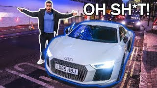 Download DRIVING AN AUDI R8 ON THE WRONG SIDE OF THE ROAD!!! Video