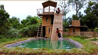 Download Build Three - Story Villa House And Swimming Pool With Water Slide By Ancient Skills (full video) Video