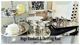 Download Huge Goodwill + Thrifting Haul | Silver & Serveware Video