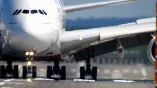 Download Heat Haze / 90° Crosswind and 34 °C at DUS Airport Part 1 with A380, A350 and A330 Video