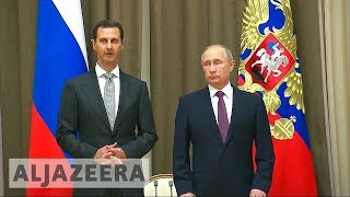 Download Assad and Putin meet to discuss post-war phase in Syria Video