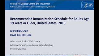 Download October 2017 ACIP Meeting - Adult Immunization ; Child/Adolescent Immunization ; JE vaccine Video