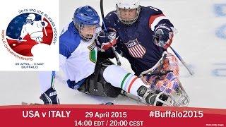 Download USA v Italy | Prelim | 2015 IPC Ice Sledge Hockey World Championships A-Pool, Buffalo Video