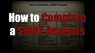Download How to Complete a SWOT Analysis | Episode 24 Video