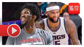 Download Joel Embiid vs DeMarcus Cousins BIG MEN Duel Highlights (2016.12.26) Kings vs Sixers - MUST WATCH! Video