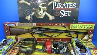 Download Guns Toys For Kids !! Pirates Set,Police & Hunter Guns - Video for Kids Video