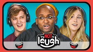 Download YouTubers React to Try to Watch This Without Laughing or Grinning #13 Video