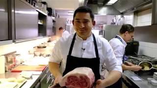 Download Ozaki Wagyu beef dish at 2 Michelin star Werneckhof By Geisel, Munich Video