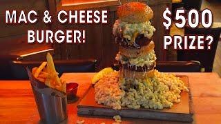 Download Mac n' Cheese Burger Challenge in New York! Video