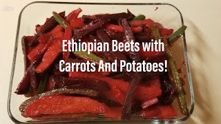 Download የቀይ ስር አልጫ አሰራር!!(HOW TO COOK BEETS WITH POTATOES STEW!!)/ETHIOPIAN FOOD Video