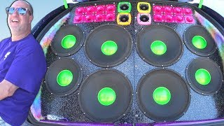 Download THIS GUY WENT ALL OUT!!! Insane Car Audio Systems & LOUD Subwoofer BASS Demos @ SLAMOLOGY 2017 Video