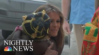 Download Melania Trump Visits Ghana's Cape Coast Castle, A Former Slave Holding Facility | NBC Nightly News Video