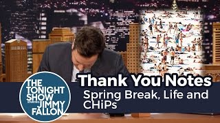 Download Thank You Notes: Spring Break, Life and CHiPs Video