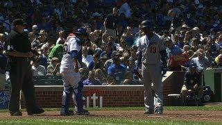 Download Hanley lays his bat too close to Navarro Video