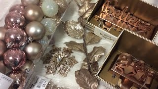 Download Rosegold Ornament Decoration Holiday Haul At Home HomeGoods Video