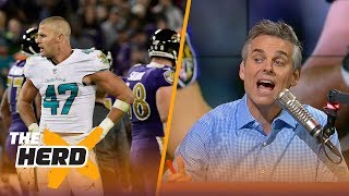 Download Colin Cowherd reacts to Kiko Alonso's hit on a sliding Joe Flacco | THE HERD Video