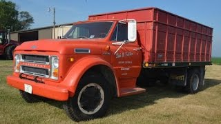 Download 1972 Chevy C60 Grain Truck with 14,046 Miles Sold on Illinois Farm Auction Video
