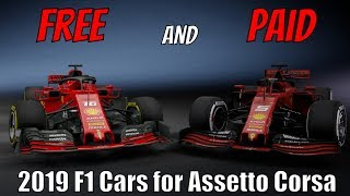 Download 2019 F1 Cars for Assetto Corsa! - One Free and One Paid Mod Video