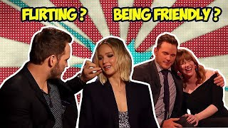 Download CHRIS PRATT WITH HIS FEMALE CO-STARS | FLIRTING OR BEING FRIENDLY? Video