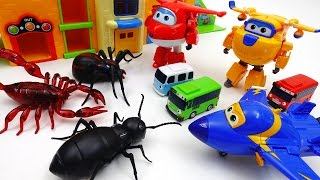 Download Go Go Super Wings, Tayo School is Under Attack by Monster Bugs Video